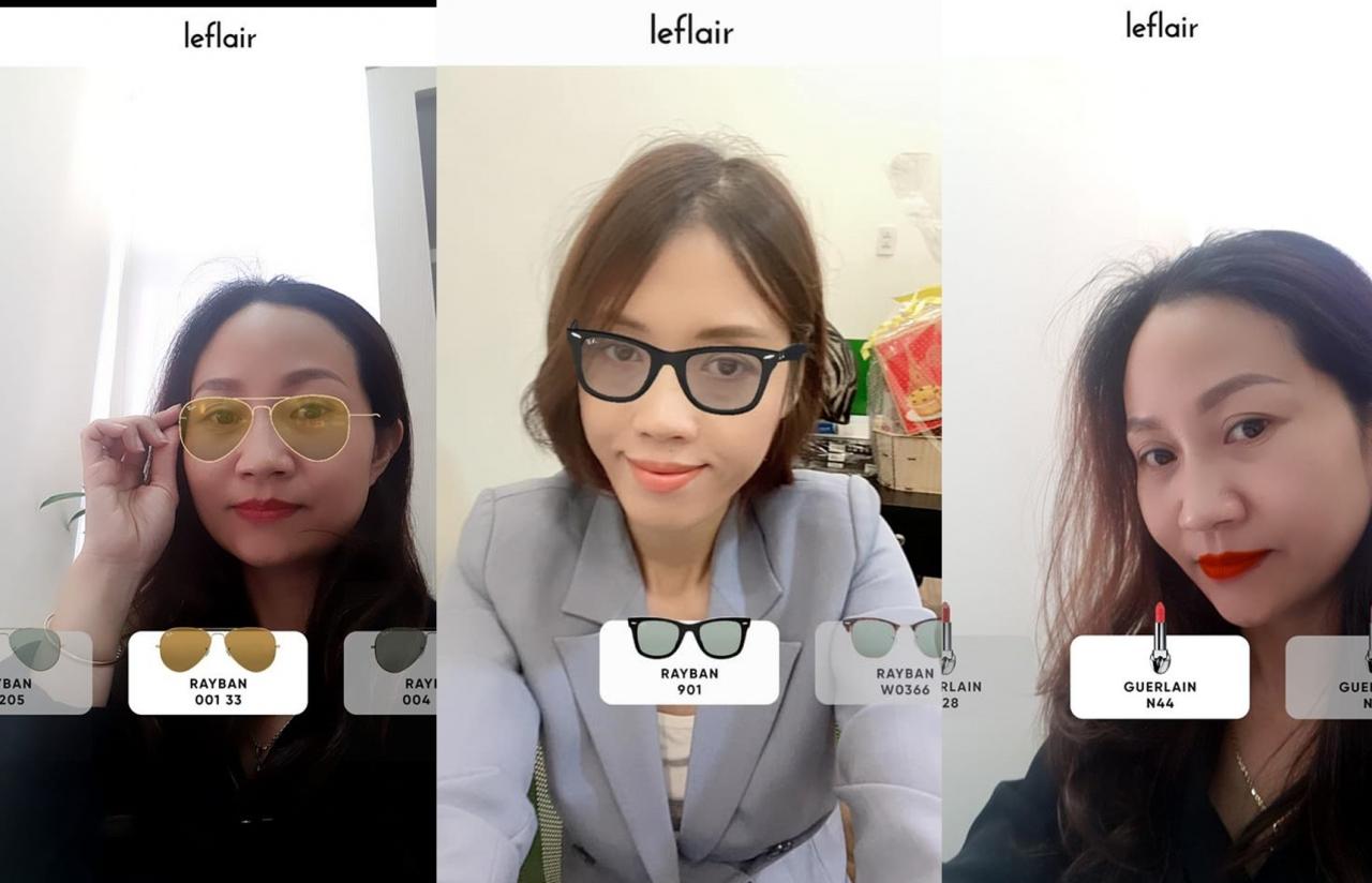 Leflair ứng dụng AR cho phép khách hàng thử sản phẩm ngay trên điện thoại