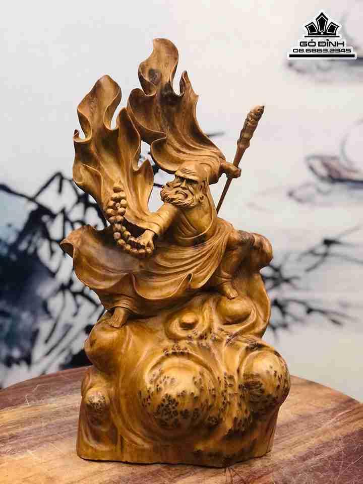 Tượng Đạt Ma Sư Tổ xuất quyền gỗ Ngọc Am