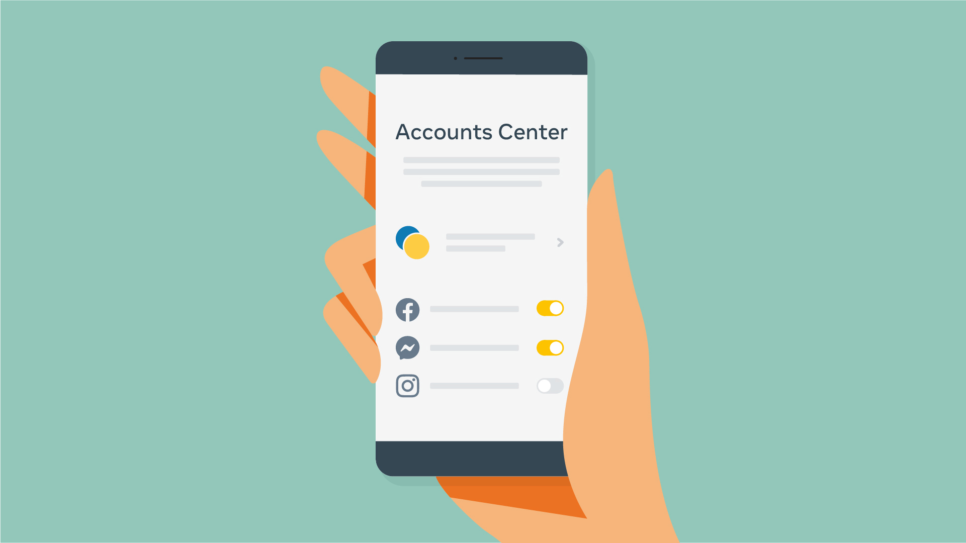 Accounts Center: An Easier Way to Manage Features That Work Across Our Apps  - About Facebook